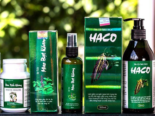 Hình ảnh: Bộ sản phẩm tóc Haco