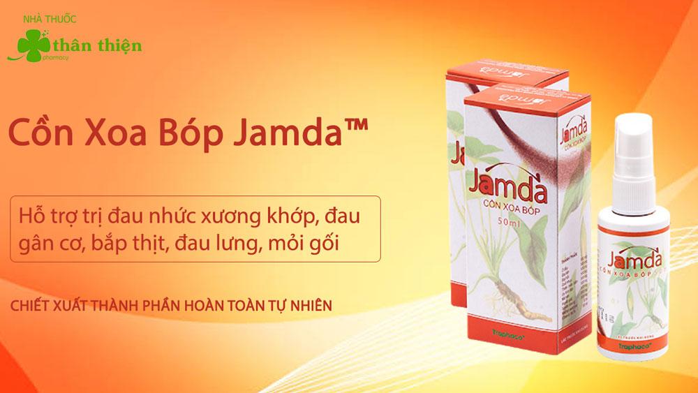 Cồn xoa bóp Jamda có bán chính hãng tại Nhà Thuốc Thân Thiện