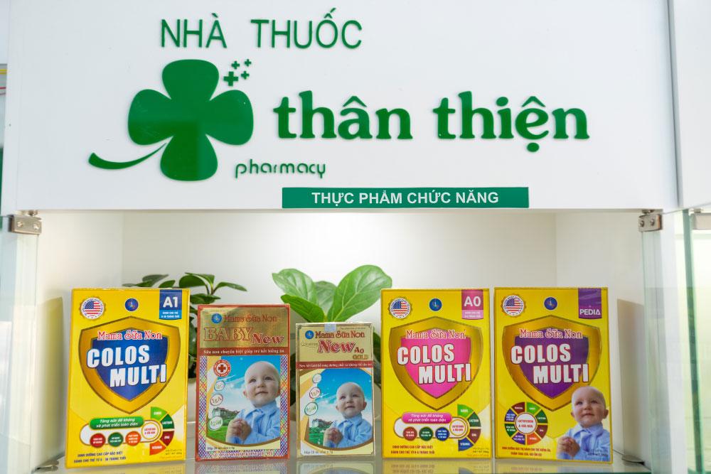 Hình chụp các dòng Mama Sữa Non có bán tại Nhà Thuốc Thân Thiện