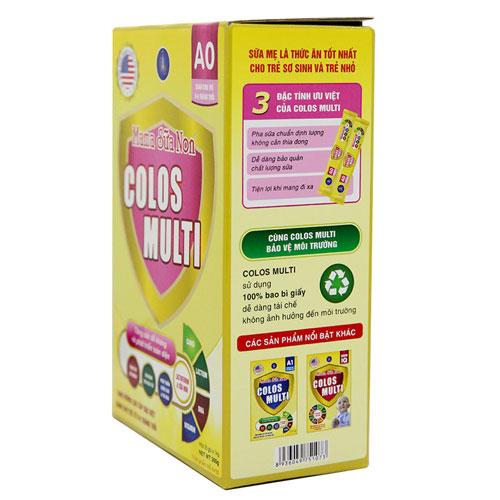 Mặt bên hộp Mama Sữa Non Colos Multi A0