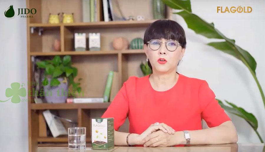 Diễn viên Phương Dung giữ mãi tươi trẻ với mầm đậu nành Flagold