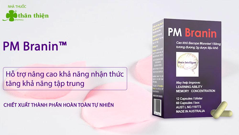 Sản phẩm Pm Branin bán chính hãng tại cá nhà thuốc trên toàn quốc