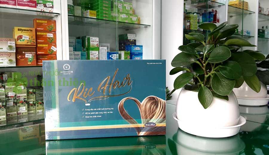 Hình chụp sản phẩm Viên uống mọc tóc Ric Hair tại nhà thuốc Thân Thiện!