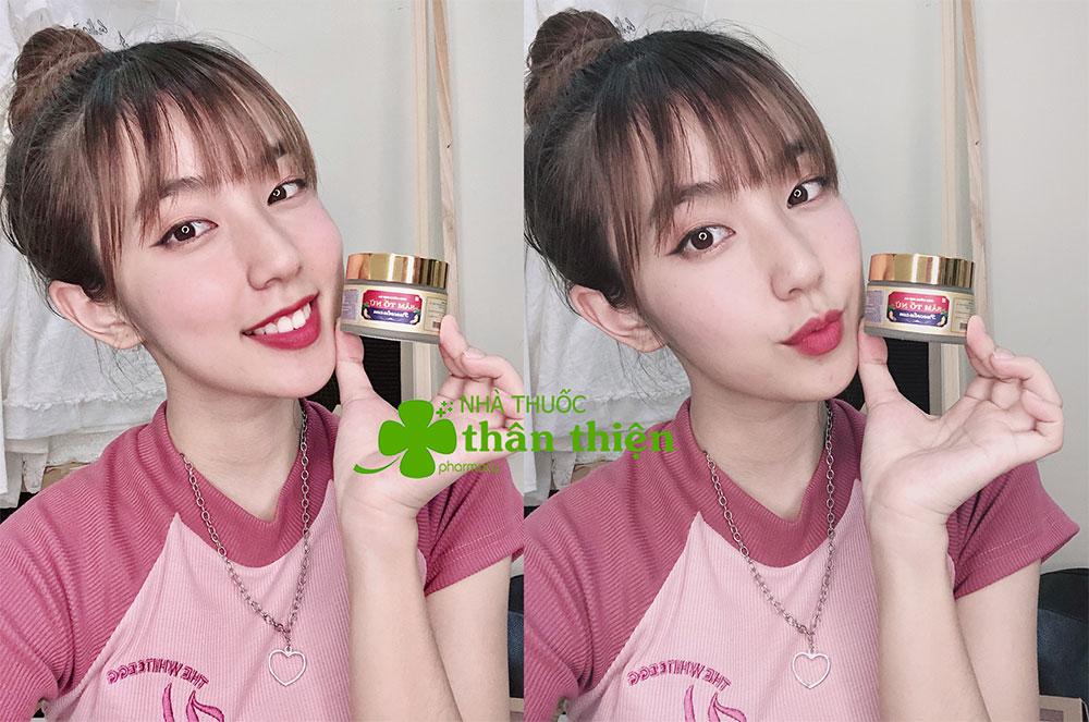 KOLs Khánh Hà sử dụng Viên Uống Đẹp Da Sâm Tố Nữ Puecolazen