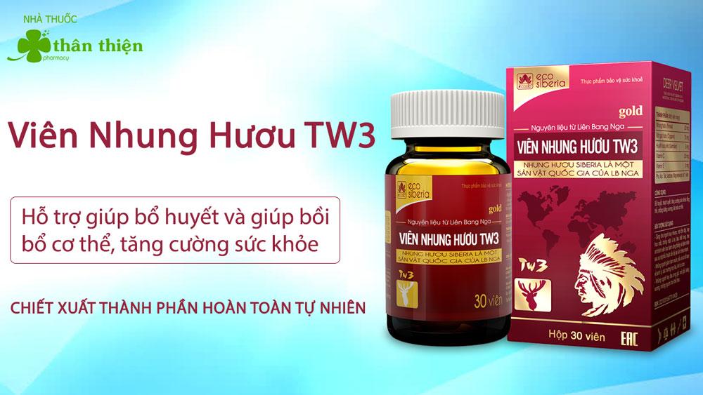 Sản phẩm Viên nhung hươu TW3 có bán chính hãng tại Nhà Thuốc Thân Thiện