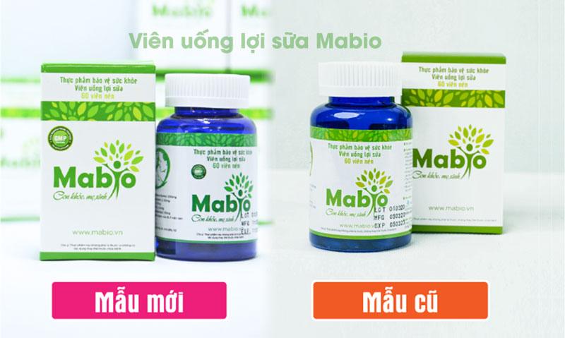 Hình ảnh sản phẩm Viên uống lợi sữa Mabio mẫu cũ và mẫu mới cập nhật năm 2021
