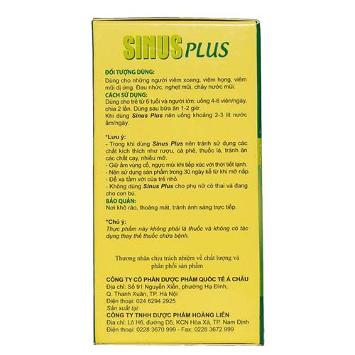 Thành phần Sinus Plus