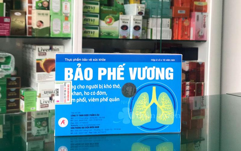 Hình chụp sản phẩm Bảo Phế Vương tại Nhà Thuốc Thân Thiện