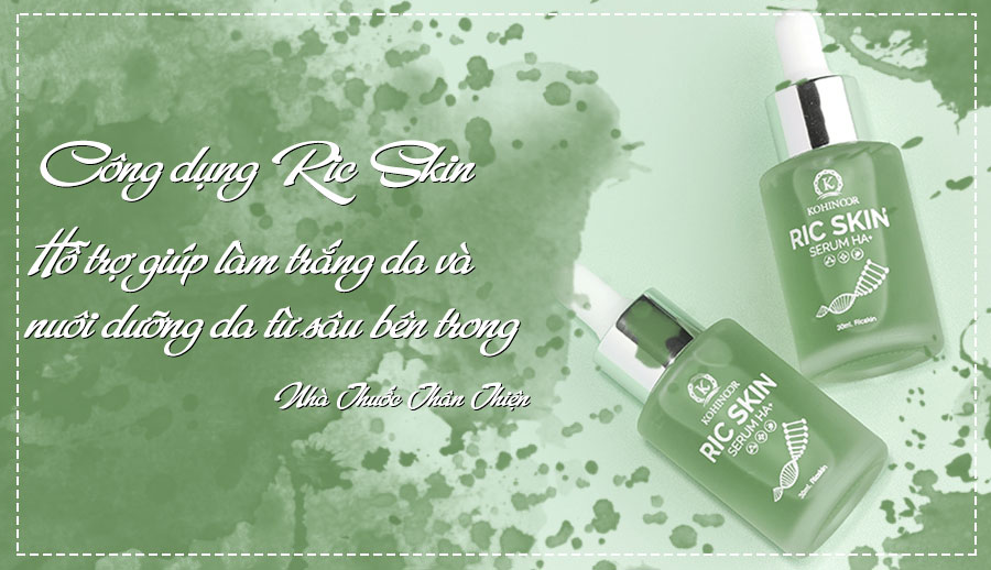 Ric Skin Serum HA+, làm mờ vết thâm, nám, sạm da