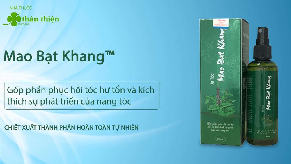 Xịt tóc Mao Bạt Khang có bán chính hãng ở một số nhà thuốc trên toàn quốc