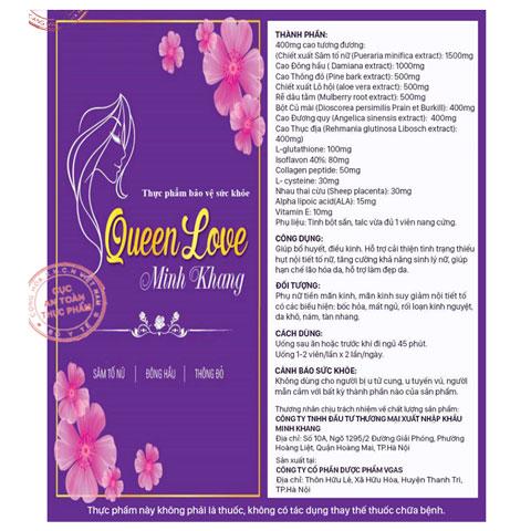 Công dụng Queen Love Minh Khang