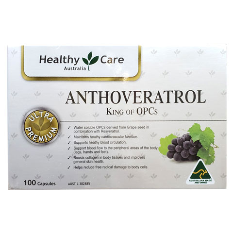 Mặt trước hộp Anthoveratrol King Of OPC