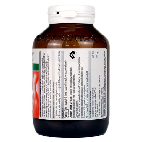 Công dụng Blackmores Glucosamine + Fish Oil