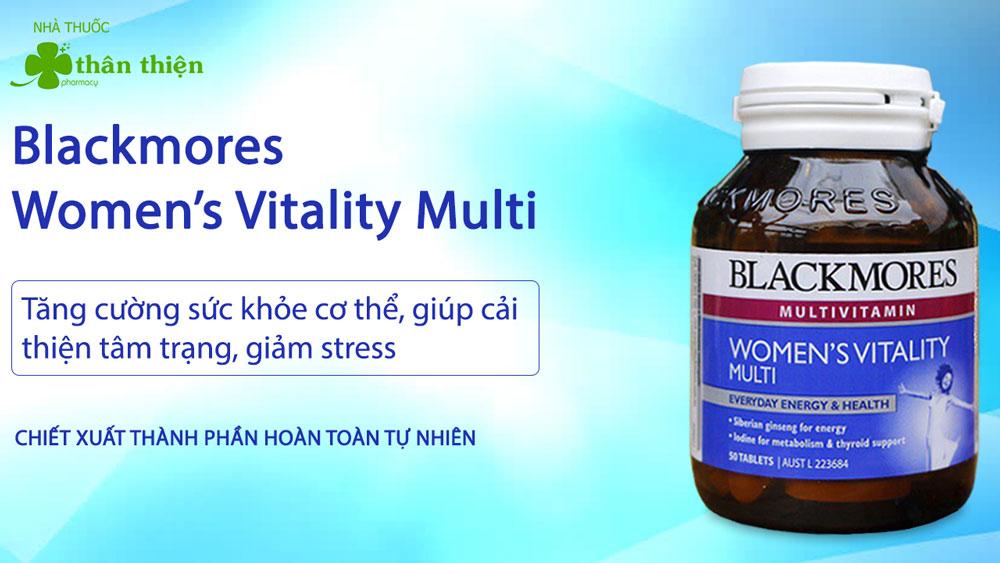 Blackmores Women's Vitality Multi có bán chính hãng tại Nhà Thuốc