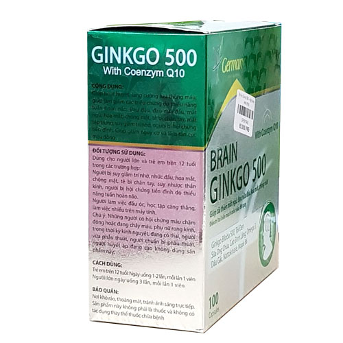 Công dụng Brain Ginkgo 500
