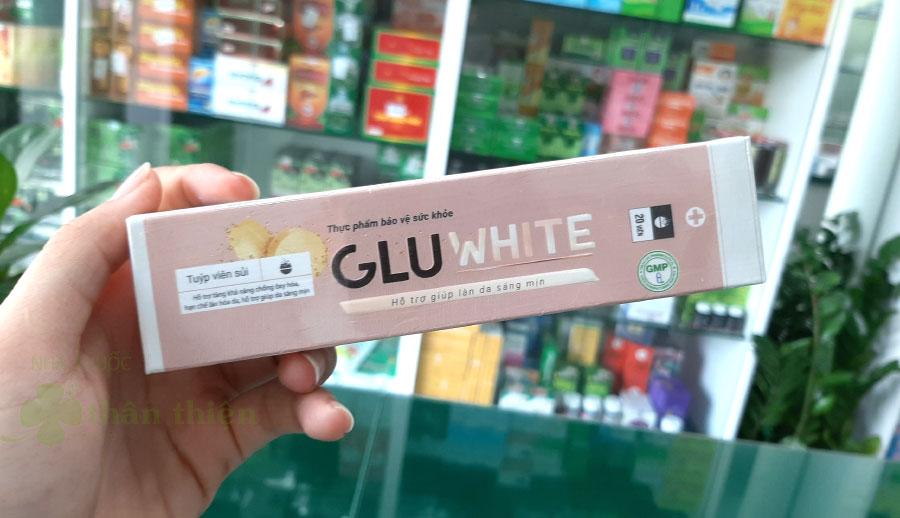 Hình chụp sản phẩm GluWhite tại Nhà Thuốc Thân Thiện!