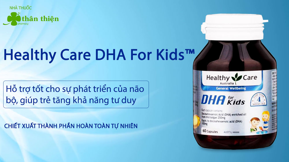 Healthy Care DHA For Kids có bán chính hãng tại các nhà thuốc
