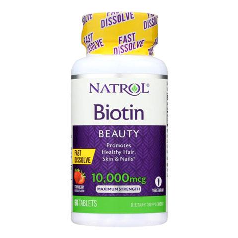 Mẫu mới Natrol Biotin Beauty 10,000mcg
