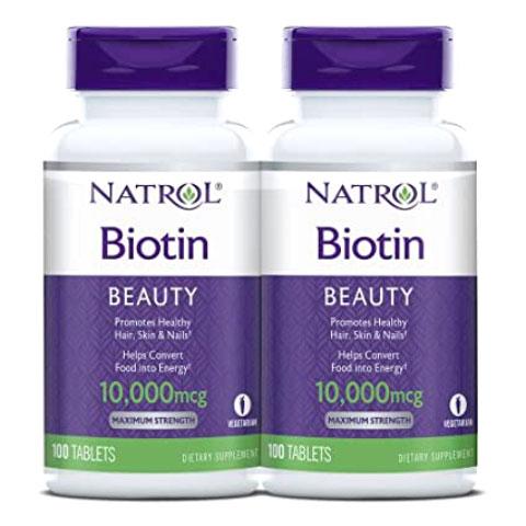 Bộ Natrol Biotin Beauty 10,000mcg