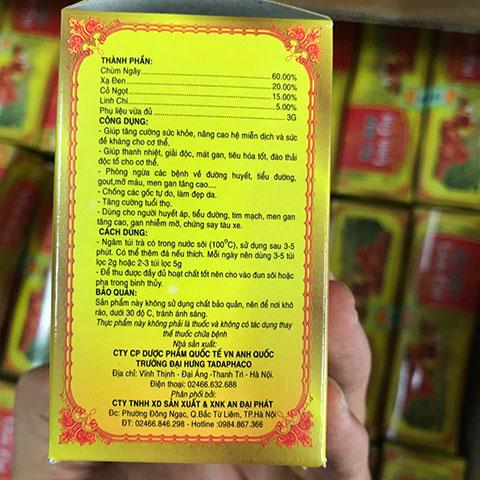 Công dụng trà túi lọc xạ đen linh chi