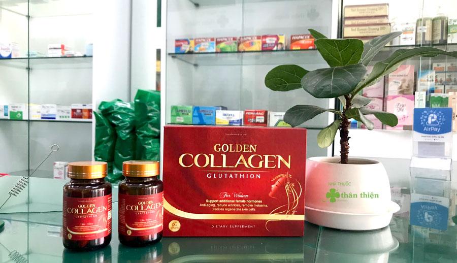 Hình chụp sản phẩm Golden Collagen trực tiếp tại Nhà Thuốc Thân Thiện