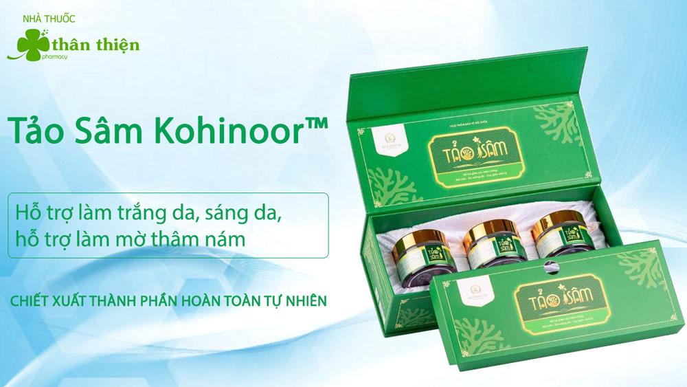 Hình ảnh viên uống Tảo Sâm của Kohinoor đang bán trên thị trường