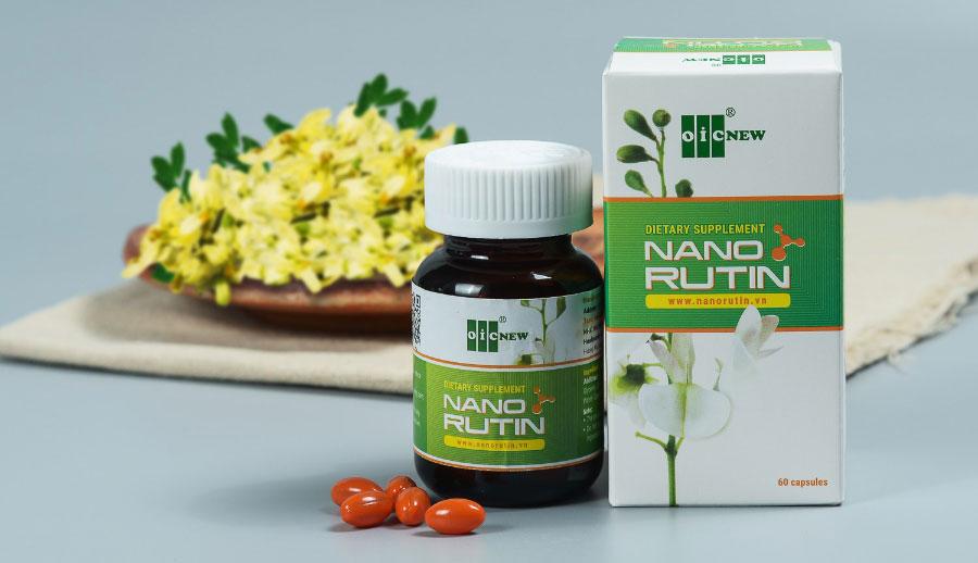 Nano Rutin OIC: Hỗ trợ điều trị bệnh trĩ, suy giãn tĩnh mạch, huyết áp, phòng ngừa đột quỵ.