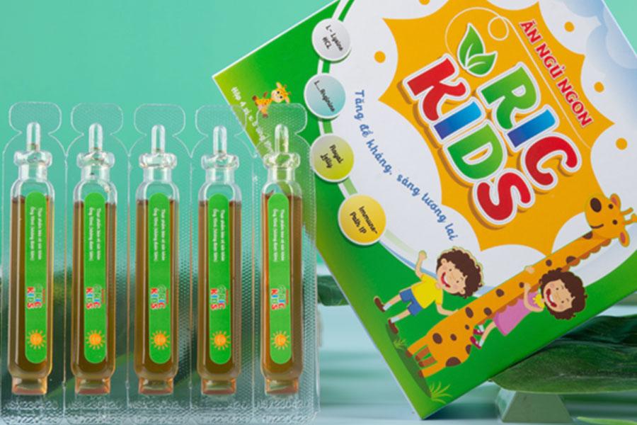 Hình chụp sản phẩm Ăn Ngon Ngủ Ngon Ric Kids đang bán trên thị trường