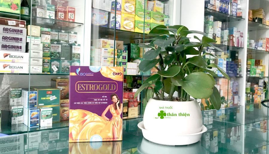 Estrogold, hỗ trợ tăng tiết nội tiết tố, cải thiện các triệu chứng do thiếu hụt Estrogen