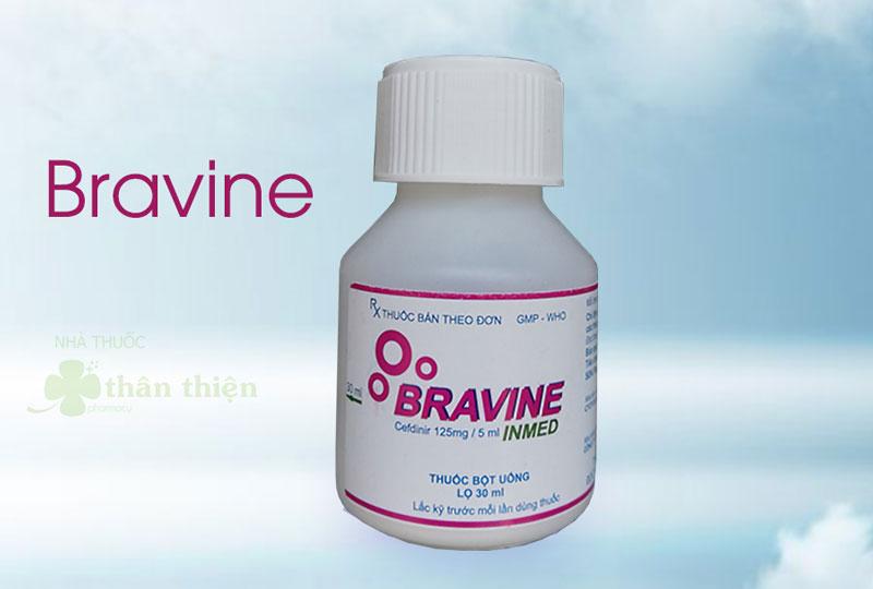 Bravine, chỉ định trong viêm tai giữa ở trẻ em, viêm họng, viêm amidan