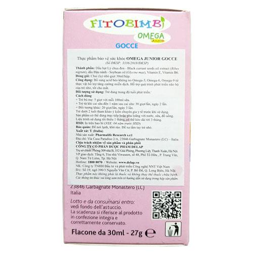 Công dụng Fitobimbi Omega Junior