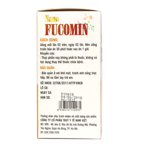 Thành phần Nano Fucomin