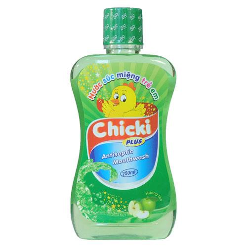 Nước súc miệng trẻ em Chicki vị Táo, 250ml