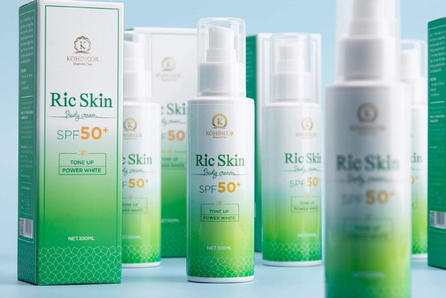 Kem chống nắng Ric Skin Body Cream, hỗ trợ bảo vệ da, dưỡng da