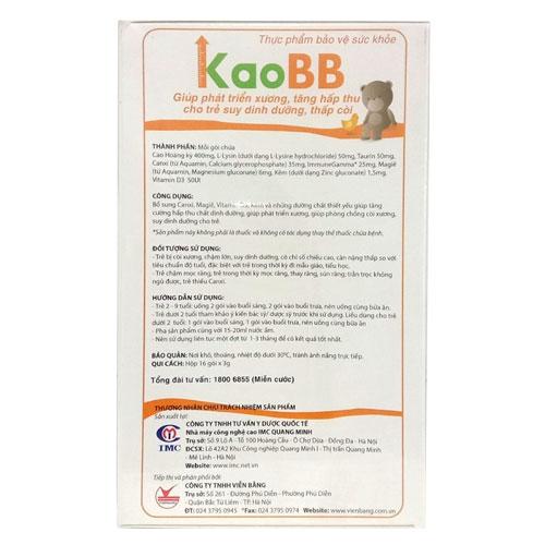 Thành phần KaoBB