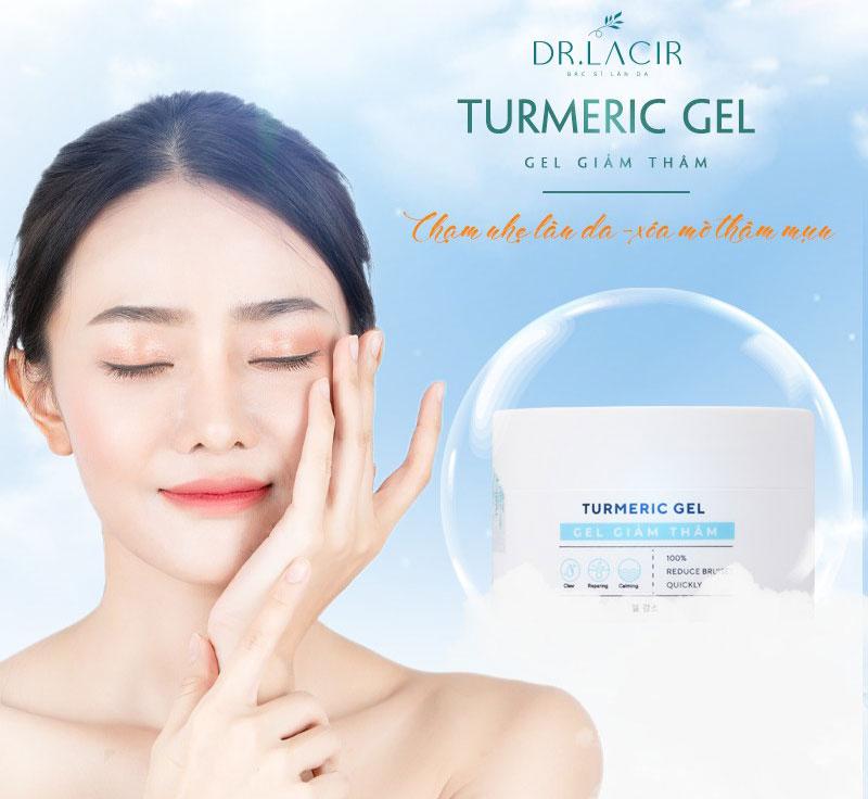 Gel giảm thâm Turmeric Gel Dr.Lacir, hỗ trợ giúp giảm và ngừa các loại mụn