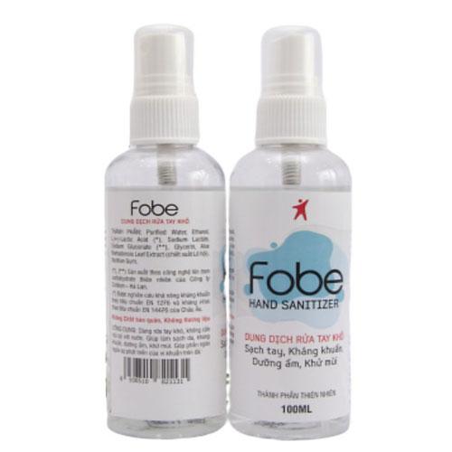 Dung dịch rửa tay khô Fobe hand Sanitizer
