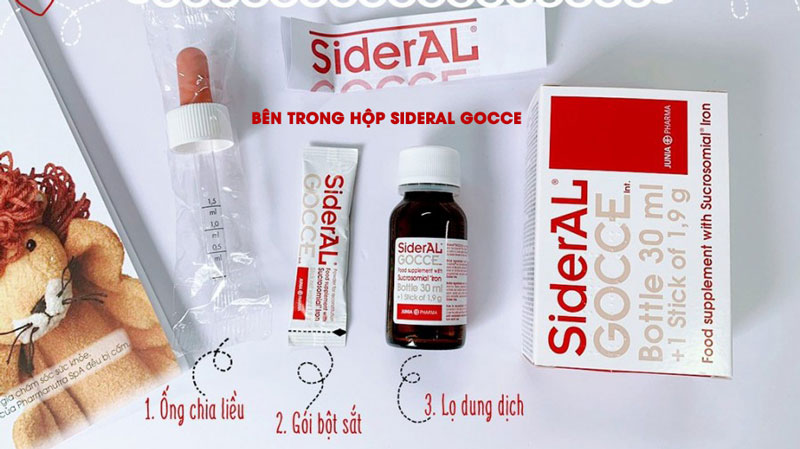 Sắt Sideral Gocce, bổ sung sắt trong trường hợp cơ thể bị thiếu hụt sắt