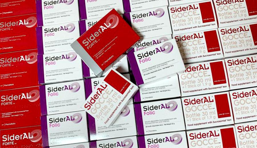 Sắt SiderAL Folic chính hãng hiện có bán ở các nhà thuốc lớn trên toàn quốc