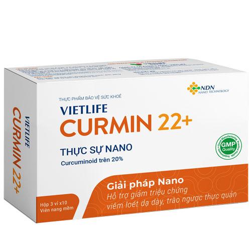 Vietlife Curmin 22+, hỗ trợ giảm triệu chứng viêm loét dạ dày