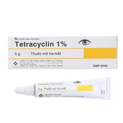 Thuốc tra mắt Tetracyclin 1%