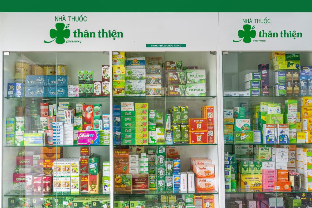 Tủ sản phẩm Thực Phẩm Bảo Vệ Sức Khỏe của Nhà Thuốc