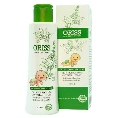 Sữa tắm rôm sảy cho bé Oriss Baby Liquid Wash