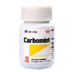 Carbomint, điều trị đầy hơi, khó tiêu, tiêu chảy do ngộ độc thức ăn