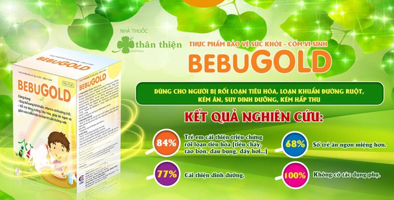 Cốm vi sinh BebuGold, hỗ trợ giảm các biểu hiện do loạn khuẩn đường ruột