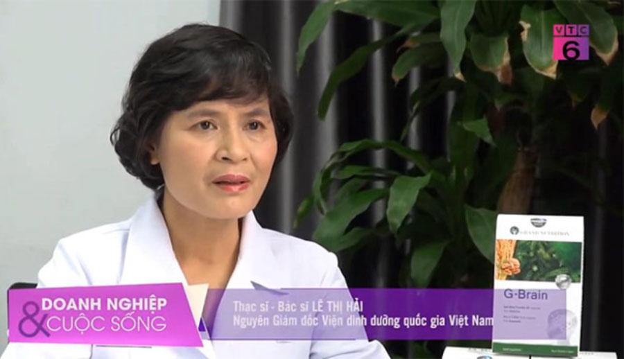Thạc sĩ, Bác sĩ Lê Thị Hải – Nguyên Giám đốc Viện dinh dưỡng quốc gia Việt Nam chia sẻ về sản phẩm G-Brain