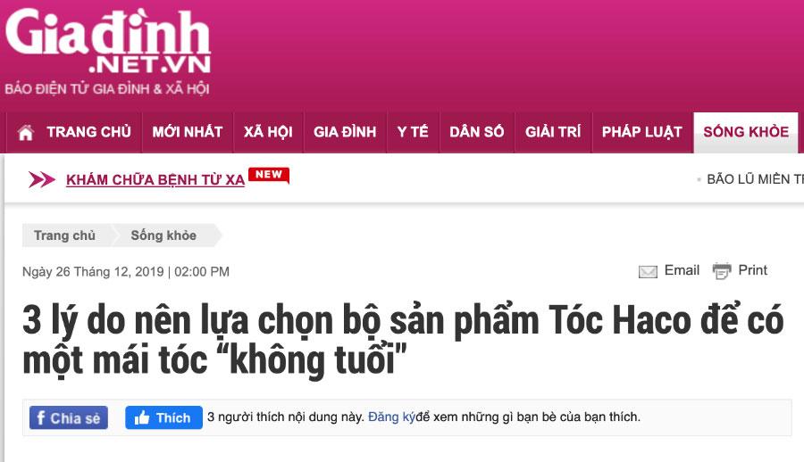 """Báo Gia Đình - 3 lý do nên lựa chọn bộ sản phẩm Tóc Haco để có một mái tóc """"không tuổi"""""""