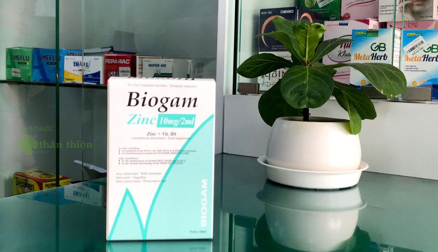 Hình chụp Biogam Zinc tại hệ thống Nhà Thuốc Thân Thiện