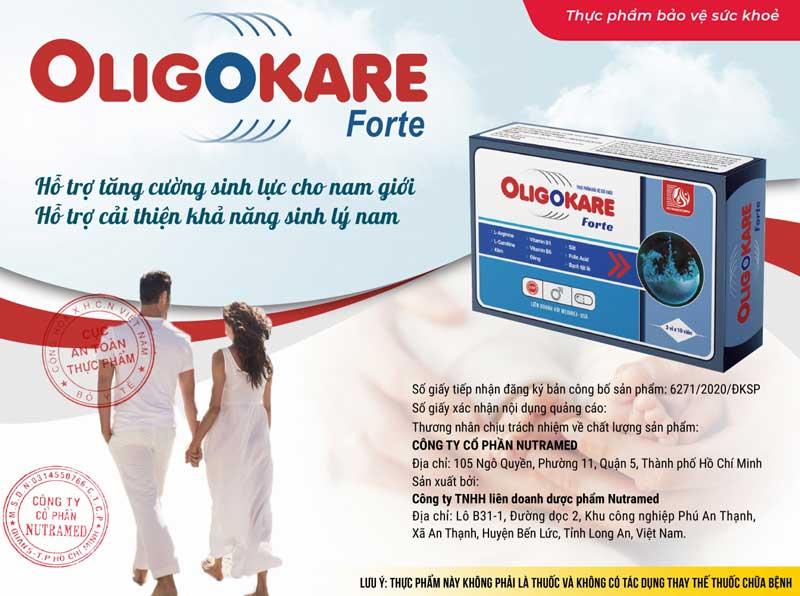 Oligokare Forte, hỗ trợ giúp tăng số lượng tinh trùng và tăng sự vận động của tinh trùng