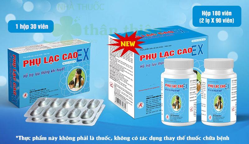 Phụ lạc cao EX, hỗ trợ lưu thông khí huyết, bổ huyết điều kinh